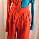 Vintage 80&#39;s Jeanne MARC Red Pants Small 8/10