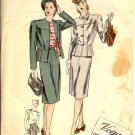 Vogue Couturier Sewing Pattern 235 Women's Suit Vintage Circa 1939 Size 12, Bust 30, Hip 33