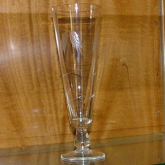 Vintage Sasaki Wheat Crystal Pilsner Glass Circa 1950
