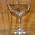 Vintage Sasaki Crystal Saucer Champagne / Tall Sherbet in the Wheat (smooth Stem) pattern