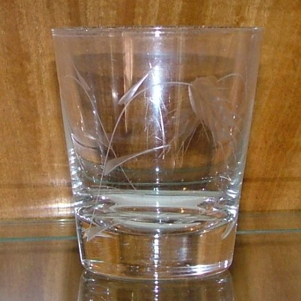Vintage Sasaki Wheat Crystal Old Fashioned Tumbler Glass