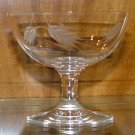 Vintage Sasaki Wheat Crystal Saucer Low Sherbet Glass Circa 1950