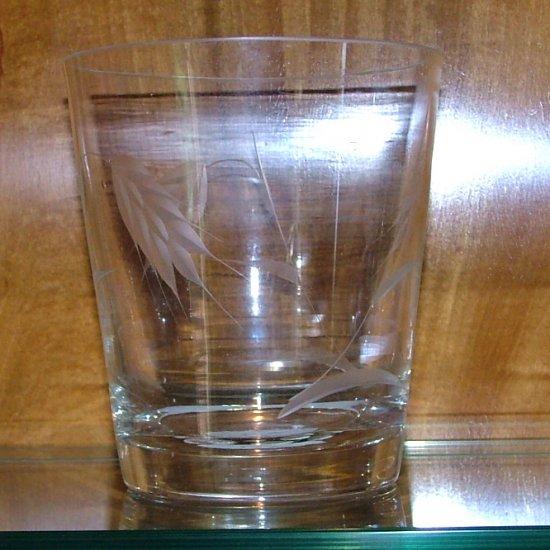 Vintage Sasaki Wheat Crystal Ice Bucket/ Wide Vase Glass Circa 1950