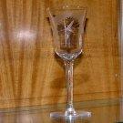 Cut Crystal cordial glass Fern, leaf