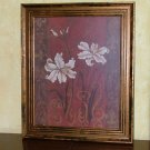Framed Lily With Scroll Design by Judy Mastrangelo