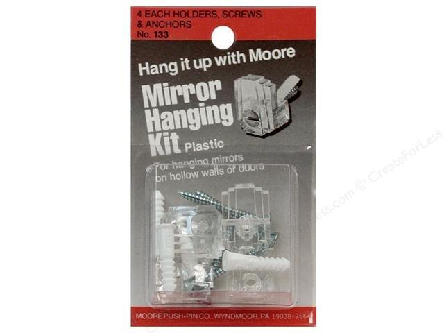 Moore Mirror Hangers Kit Plastic