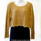 T.W.H. The White House Gold Chenille Sweater Small