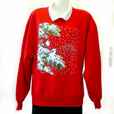 Morning Son Whitton Winter Red Sweatshirt L