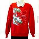 Morning Son Whitton Winter Red Sweatshirt L