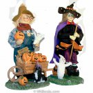 "13"" Mache Witch and Scarecrow"