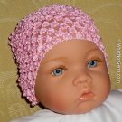 How Darling Sweet Pink Beanie Waffle Crochet Baby Hat
