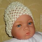 How Darling Creamy Yellow Beanie Waffle Crochet Baby Hat
