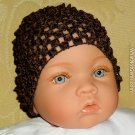 How Darling Buster Brown Beanie Waffle Crochet Baby Hat