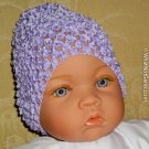 How Darling Lavender Beanie Waffle Crochet Baby Hat