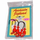 Bass Assassins Lead/Red Eye 1/8-ounce Jigheads- Red JA06002 Pkg-4