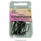 Vintage Jeros Tackle Black Coastlock Snap Swivels Size 1/0