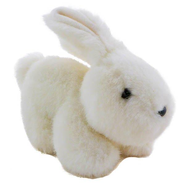 Vintage White Bunny Plush Rabbit by Embrace, Stuffed Animal