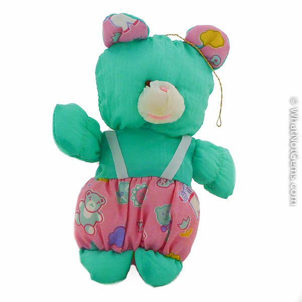 Aqua Teddy Bear Christmas Tree Ornament