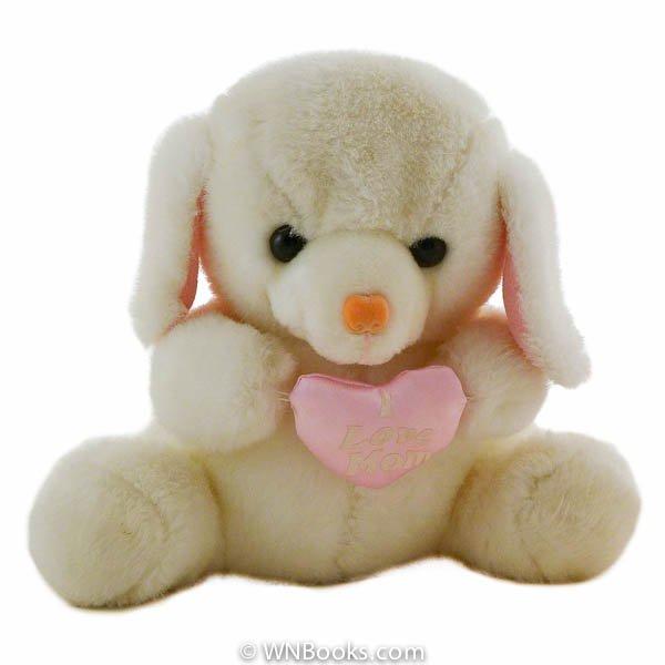 "White Teddy Bear ""I Love Mom"" Heart by America Wego, Stuffed Animal"