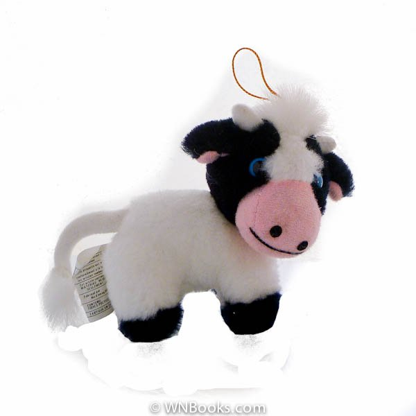 Blue Eyed, Black and White Cow Ornament by Ace Novelty