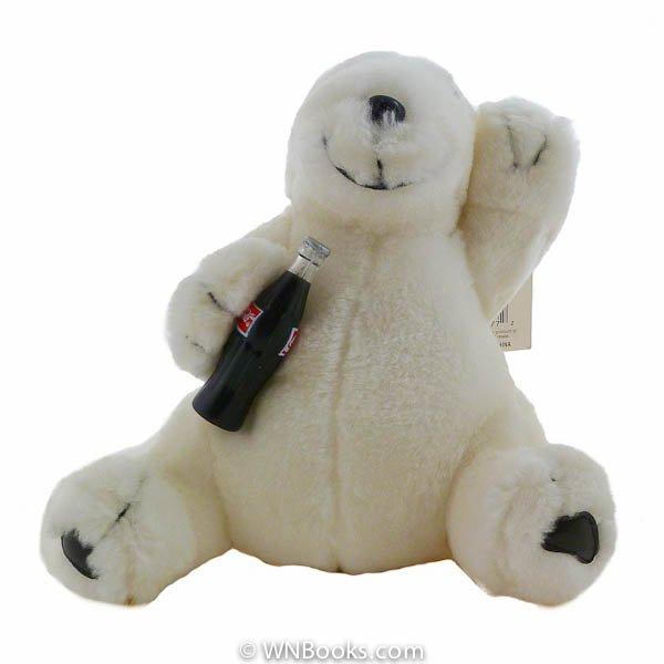 Coca Cola Polar Bear Plush Play by Play 1996, Stuffed Animal