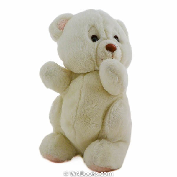 Plush White Teddy Bear circa 1980's Stuffed Animal