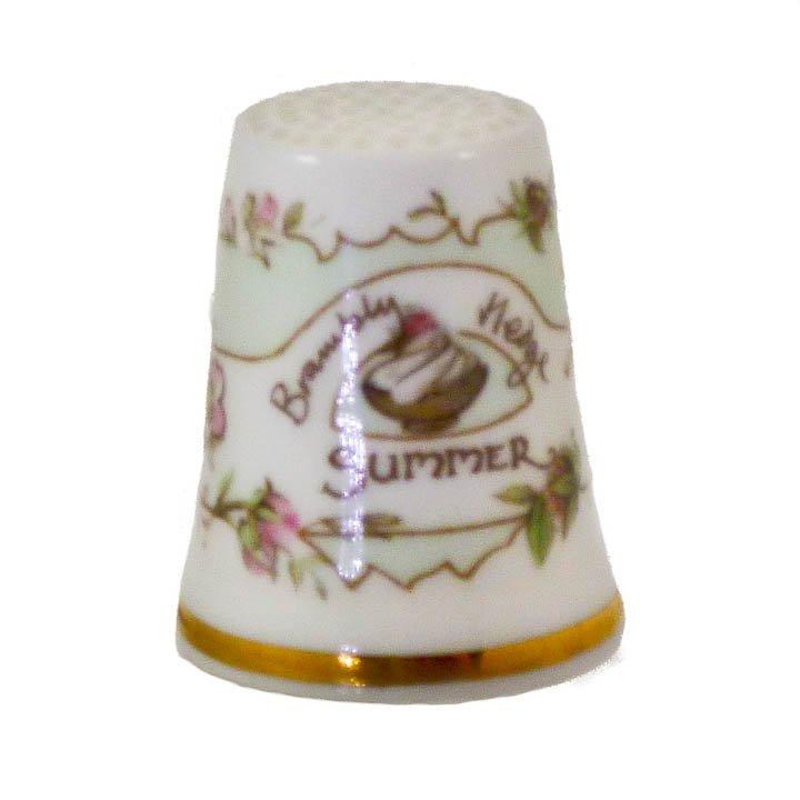 Royal Doulton Porcelain Thimble Summer Brambly Hedge