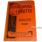 Grand Opera Libretto: Rigoletto by Verdi (1948)- Fortune Gallo by San Carlo Opera Co