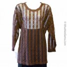 Vintage Huntington Ridge Brown Sweater - Cover Up M