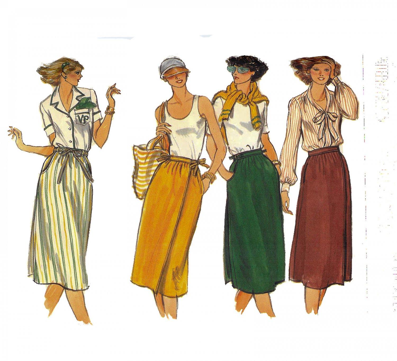 Vogue Pattern 9824 Wrap Skirt -Vintage 1970's