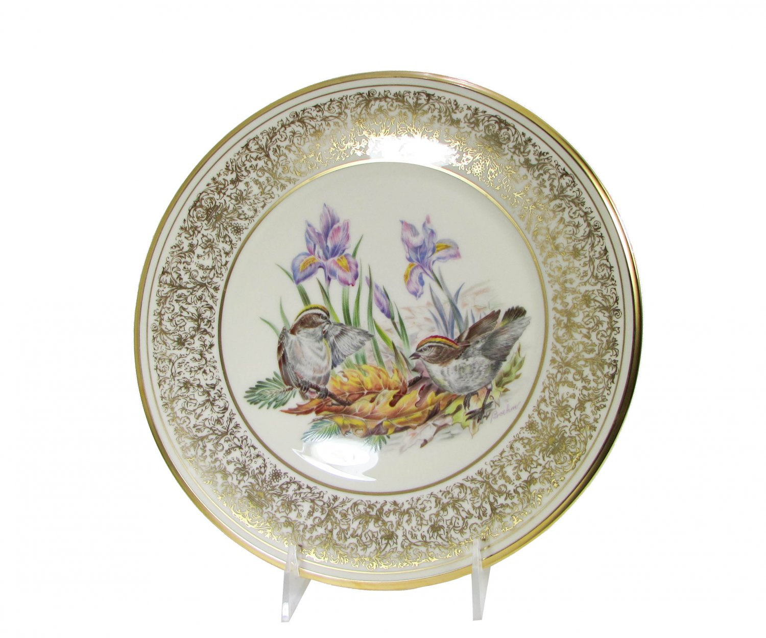 Golden Crowned Kinglets Lenox American Bird Plate, Annual Limited Edition Boehm Birds Circa 1979