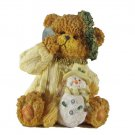 Bear with Wreath, Snowman and Shovel Figurine by Magic Creations