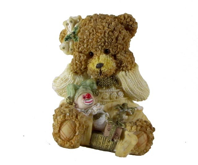 Bear with Clown, Gifts, Ball and Candy Cane Figurine by Magic Creations