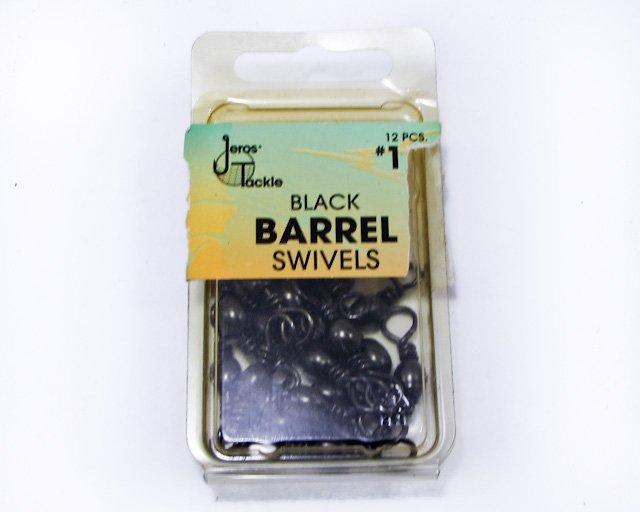 Vintage Jeros Tackle Black Barrel Swivels Size 1/0 19ea