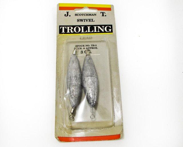 JT Jeros Tackle Stotchman Swivel Trolling Sinker Lead 2 - 3oz. TS3