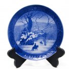 Royal Copenhagen 1967 The Royal Oak Kai Lange Denmark, Cobalt Blue, Christmas Plate