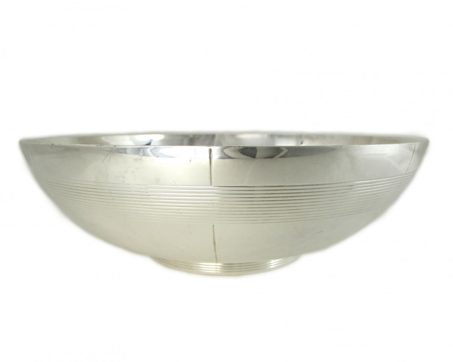 Wedgwood Vera Wang Challis 8 inch Silver Plate Serving Bowl Marked