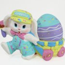 Hallmark 1990 Crayola Crayon Bunny Figurine with Easter Egg Figurine Binney and Smith