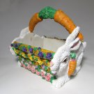 Carrot Handles on a Easter Basket Bunny Rabbits Resin