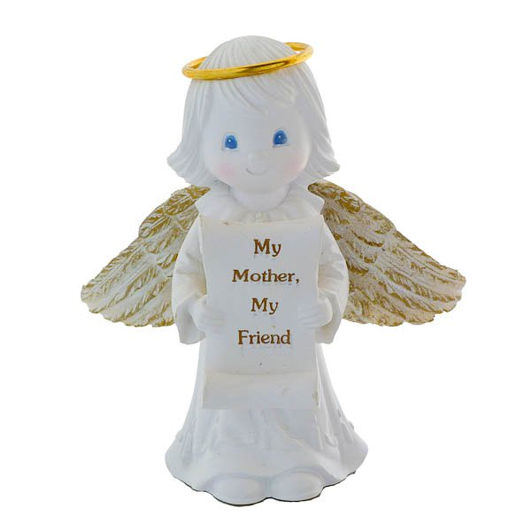 "Papel Giftware - Custom Decorative Piece - ""My Mother, My Friend"" - Angel Statue 1999"