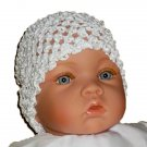 How Darling Snow White Beanie Waffle Crochet Baby Hat