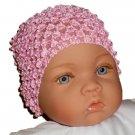 How Darling Sweet Pink Beanie Waffle Crochet Baby Hat