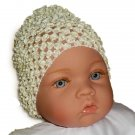 Creamy Yellow Beanie Waffle Crochet Baby Hat, How Darling