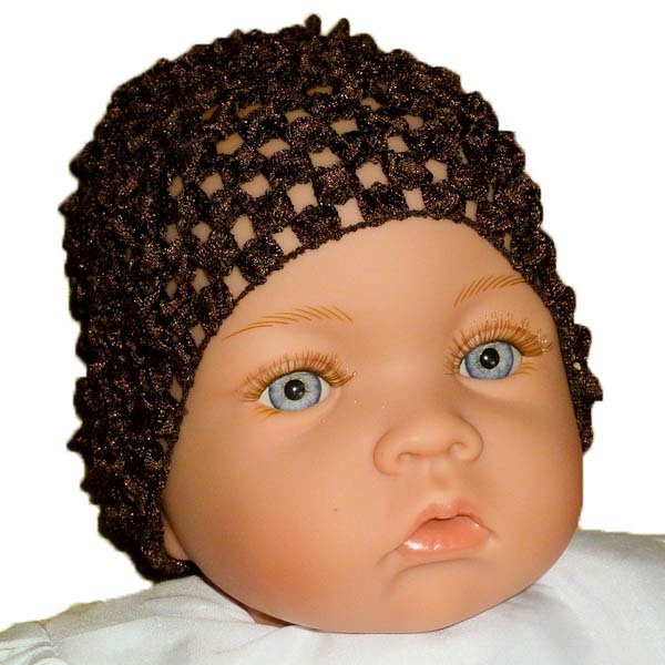 Buster Brown Beanie Waffle Crochet Baby Hat, How Darling