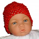 Red Beanie Waffle Crochet Baby Hat, Darling