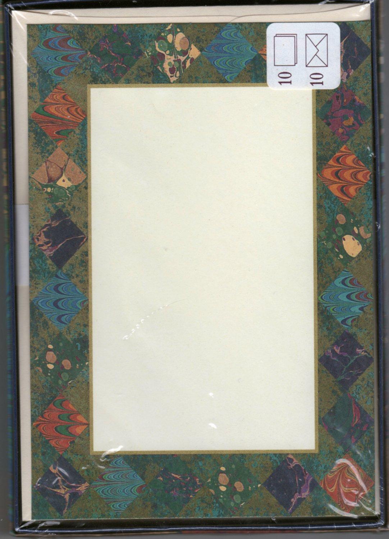 Modern Correspondence Single-Panel Note Cards Hallmark Stationery - 10 Vintage 1990