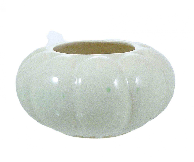 Ivory Ribbed Vase Pumpkin Planter