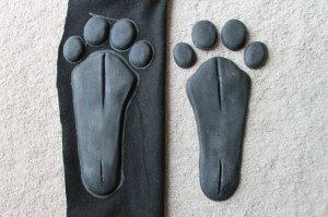 4-toed monkey/lemur/primate/anthro paw pads