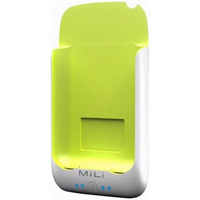 MiLi Power Pack for iPhone 2G/3G/3GS & iPod Touch (White/Green) + Free screen protector & shipping