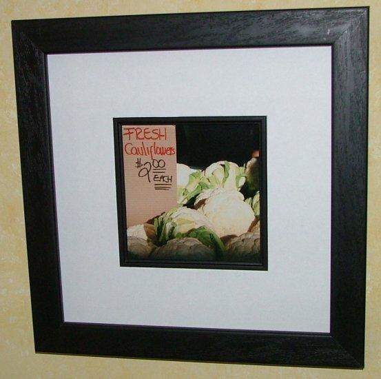 "Framed ""Fresh Cauliflowers ""  by Random Oasis Photography"